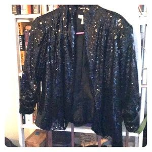 Black sequined Dress Barn evening blazer